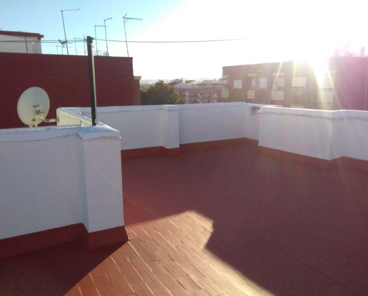 Impermeabilización de terraza transitable