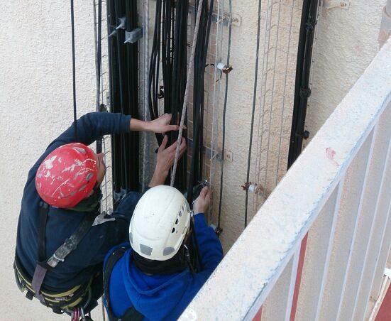 Instalación de cableado para telecomunicaciones