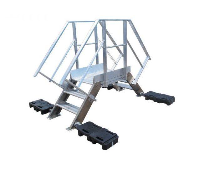 Pasarela de aluminio tipo salto de lobo