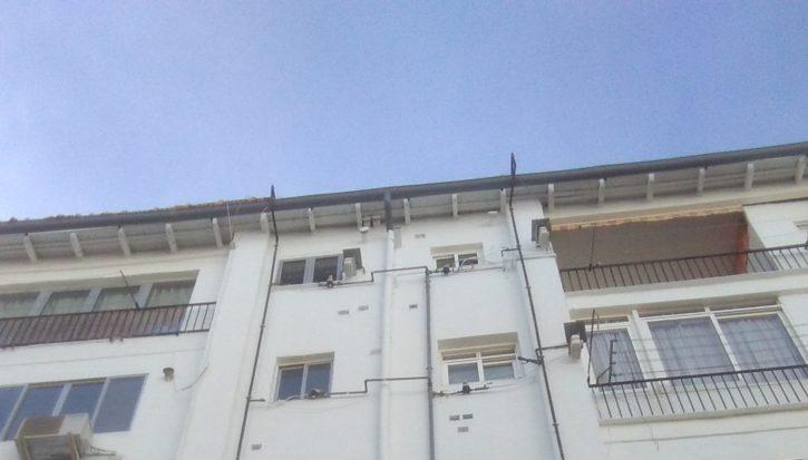 Reparación y pintura de fachada trasera (después)