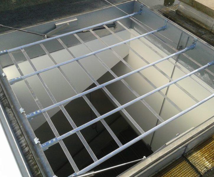 reja anticaídas aluminio